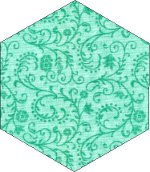 Green Fabric Hexagon